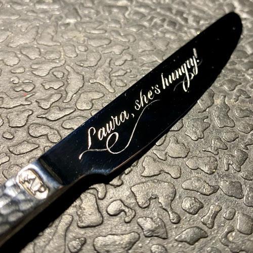 Hand engraved Arthur Price knife