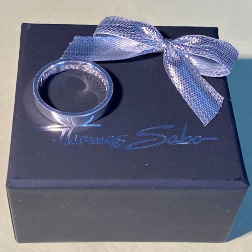 Hand engraved Thomas Sabo silver ring