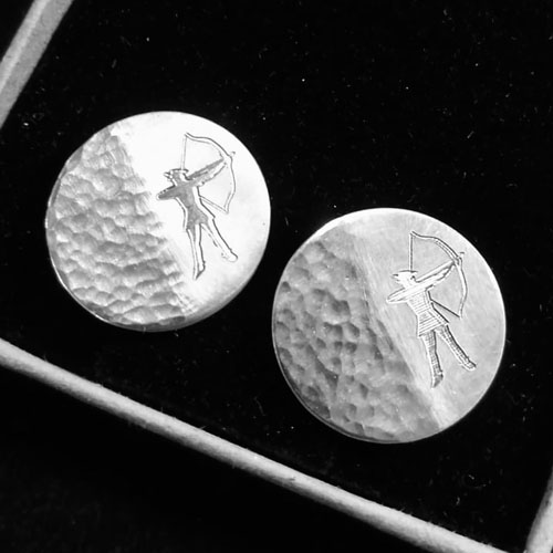 Machine engraved cufflinks