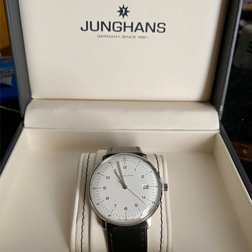 Hand engraved Junghans watch