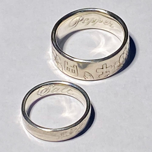 Hand engraved Coin rings